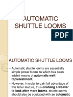 Automatic Shuttle Looms