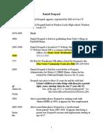 Despard Known Information