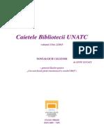 Caietele Bibliotecii UNATC nr. XIII Liviu Lucaci