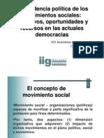 La incidencia política de los movimientos sociales