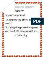 The Uses of Energy