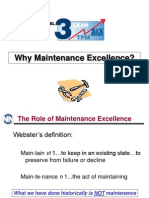 Why Maintenance Excellence