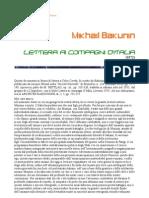 Bakunin - Lettera ai compagni d'Italia
