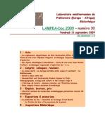 LAMPEA-Doc 2009 – numéro 30 / Vendredi 11 septembre 2009