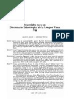 Materiales Para Un Dic Etimologico Vasco VII