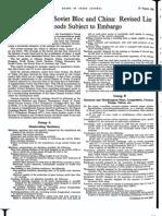 CoCom Lists - 1958