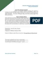 Publication Report Worksheet