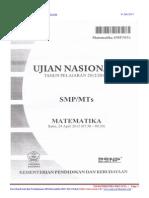 Soal Dan Pembahasan Ujian Nasional Matematika Smp 2013 Paket 2