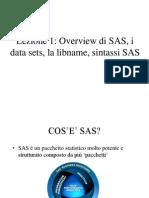 Lezione1 SAS