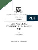 Kertas Kerja Hari Anugerah 2013