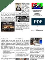 O2E-TV trifold brochure