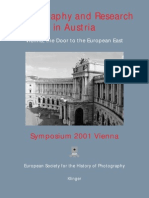 Photography and Research in Austria2001