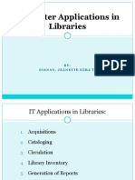 Copy of Computer Applications in Libraries