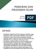 Pemikiran Dan Peradaban Islam
