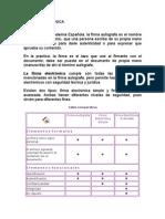 Resumen Firma electrónica SECCIÓN 303