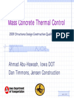 Mass Concrete Thermal Control
