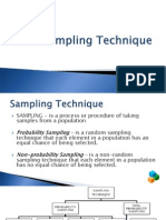 Sampling Technique and Determining Sample Size