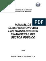 Manual de clasificación para las transacciones financieras del