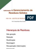 Gestão e Gerenciamento de Resíduos Sólidos-Trabalho Poli-2012