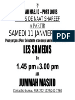 Lecons Naat Shareef 2014