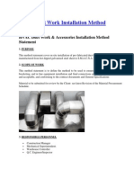 HVAC Duct Work Installation Method Statement