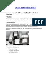 HVAC Duct Work Installation Method Statement