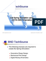 CATIA V5R17 Coil Spring Simulation