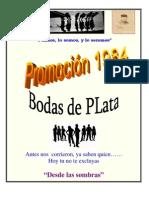 "Promo 1984 González Vigil ""Desde la Sombra"""