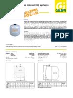 Caleffi Solar Expansion Tank Brochure