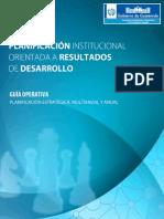 Gua de Planificacin Institucional Orientada a Resultados (1)