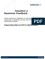 GCE Maths Examiner Feedback C1