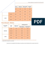 Beziers Airport Shuttle Timetable