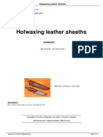 Hotwaxing Leather Sheaths