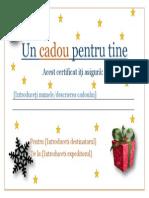 Powerpoint Certificat Cadou