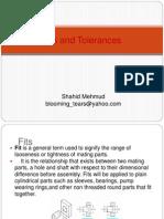 Fits and Tolerances