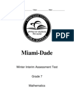 Winter 2013 Interim Assessment - Grade 7 Mathematics