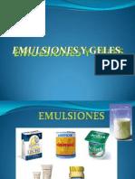 Emulsiones y Geles
