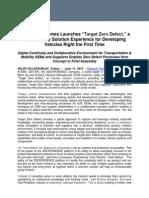 TargetZeroDefect News Release Distrib 11 June 2013 FINAL