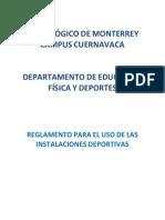 reglamento para el uso y prstamo de las instalaciones deportivas