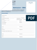 DBA Application for Admission