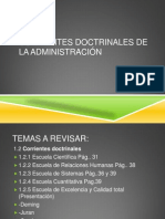 Corrientes Doctrinales Admon