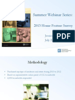 2013 Home Features Survey Webinar Presentation Slides 7-23-2013