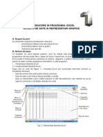 INTRODUCERE IN PROGRAMUL EXCEL