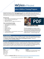 Leaders Training Flyer
