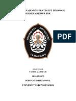 Analisis Manajemen Strategi Pt Indofood Sukses Makmur Tbk