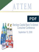 Sept 2009 Chattem CHTT Presentation