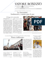 L´OSSERVATORE ROMANO - 13 Diciembre 2013