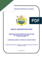 Bases ARAPAAdminist ADS 002-2011 Consultoria