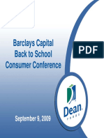 Sept 2009 Dean Foods DF Presentation