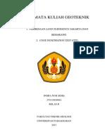 270110100061 - Indra Nur Sidiq - Kelas b (Tugas Geoteknik Land Subsidence & Cpt)